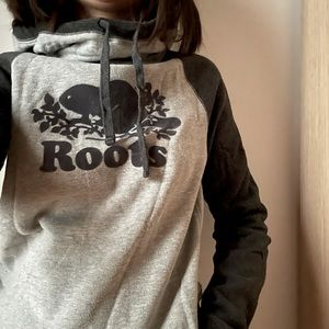 ROOTS  Hoodie Colourblock Pullover - S